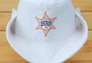 Шапка для сауны Шериф белая